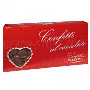 crispo marrone - confetti al cioccolato fondente 1 kg