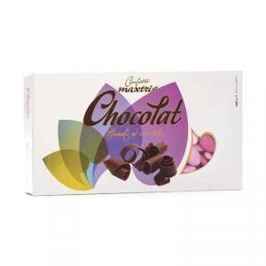 maxtris maxtris sfumato rosa - confetti  cioccolato fondente (1kg)