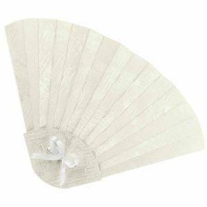 scotton spa scotton spa ventaglio 315x205 mm pieghevole in cartoncino tela bianco