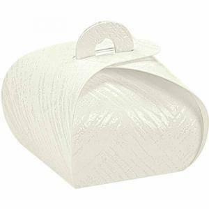 scotton spa scotton spa tortina 40x40x35 mm in cartoncino - tela bianco