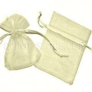 sacchetto 13x9 cm in organza crema