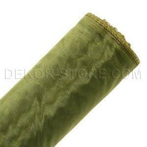 organza verde oliva - 37 cm x 10 yd