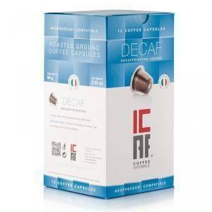 decaffeinato - 12 capsule compatibili nespresso caffè icaf