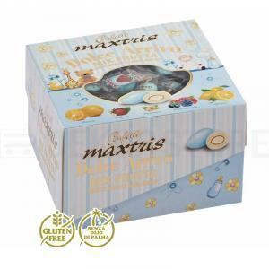 maxtris maxtris dolce arrivo mix frutta celeste - confetti  (vassoio 500gr)