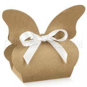 scotton spa scotton spa borsa 60x40xh90 mm in cartoncino a forma di farfalla avana