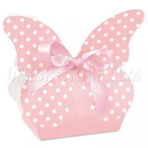 scotton spa scotton spa borsa 60x40xh90 mm in cartoncino a forma di farfalla atelier rosa con pois