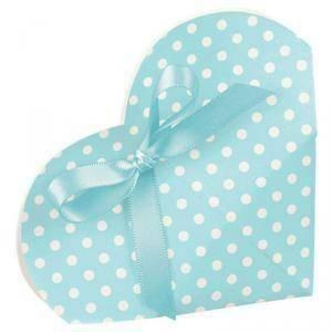 scotton spa portaconfetti 50x25mm a forma di cuore cartoncino - atelier azzurro