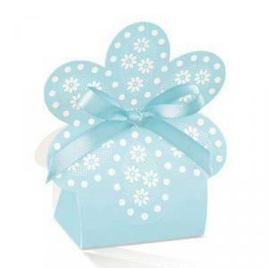 scotton spa scotton spa borsa 60x40xh110 mm in cartoncino a forma di fiore - atelier azzurro