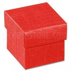 scotton spa scotton spa scatola 50x50x50mm fondo e coperchio - seta rosso