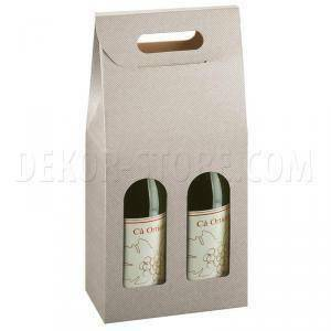 scotton spa scotton spa scatola 2 bottiglie con maniglia - tortora