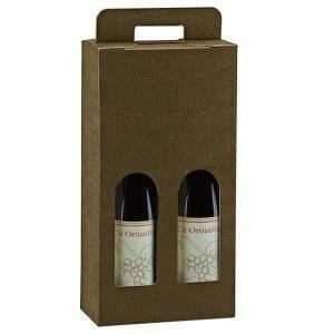 scotton spa scotton spa valigia 2 bottiglie con maniglia - pelle marrone