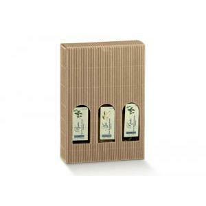 scotton spa scotton spa scatola 3 bottiglie mini 140x45x215 mm - onda avana