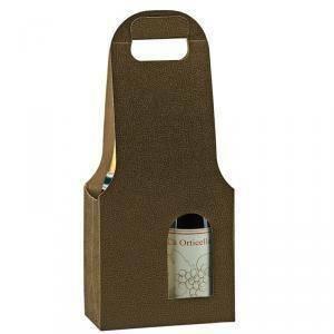 scotton spa scotton spa scatola 2 bottiglie con maniglia - pelle marrone - bag new