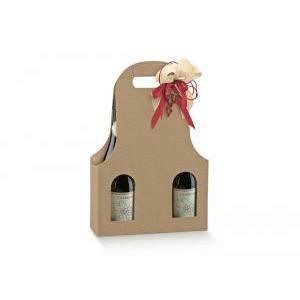 scotton spa scotton spa scatola 3 bottiglie con maniglia - onda avana - bag new