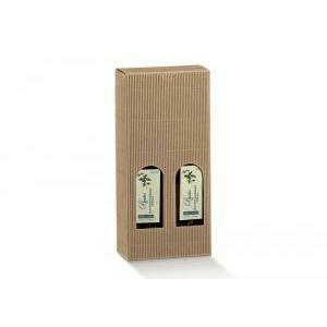 scotton spa scotton spa scatola 2 bottiglie mini 130x65x320 mm - onda avana
