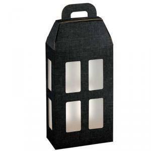 scotton spa scotton spa scatola 2 bottiglie lanterna - seta nero con inserto ghiaccio