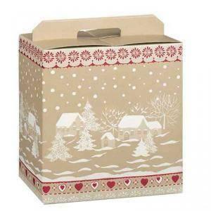 scotton spa scotton spa pacco dono con maniglia 330x250x350 mm - borgo innevato