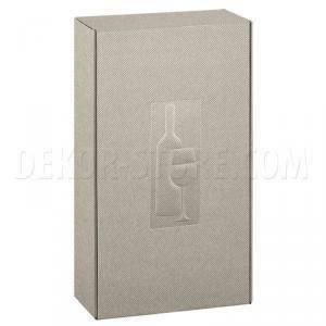 scotton spa scotton spa cantinetta 2 bottiglie 340x185x90 mm - tortora