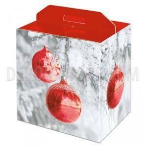 scotton spa scotton spa pacco dono con maniglia 305x225x350 mm - sfere rosse