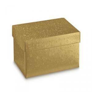 scotton spa scotton spa scatola 200x200x190 mm - sfere oro - fondo e coperchio