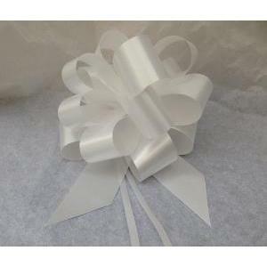 granfiocco nastro splendente bianco 30 mm (10 pz) -