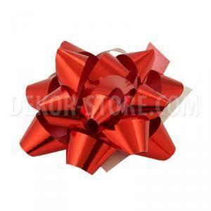 bolis stella nastro reflex 10 mm rosso - 50 pz