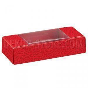scotton spa scotton spa quadretto portaconfetti 90x33x20 mm - pelle rosso