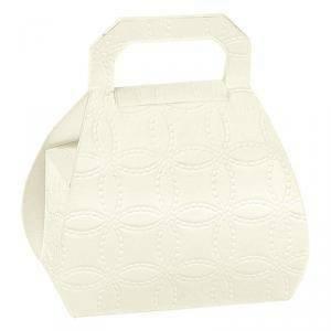 scotton spa scotton spa portaconfetti h80 a forma di borsa in cartoncino - matelasse bianco