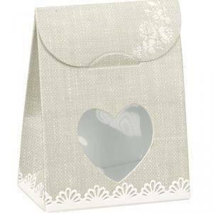 scotton spa scotton spa sacchetto con finestra a cuore - rose 60x35x80 mm