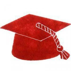applicazione tocco 4 x 2,5 cm in feltro - rosso