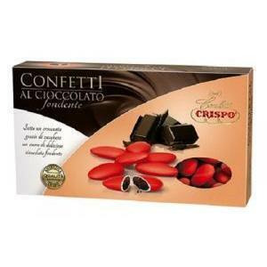 crispo rosso - confetti al cioccolato fondente 1 kg