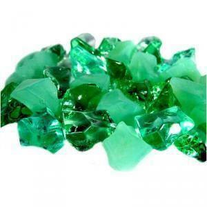 ghiaccio acrilico 15/30 mm lucido/opaco - verde (250 gr - 75 pz. ca.)