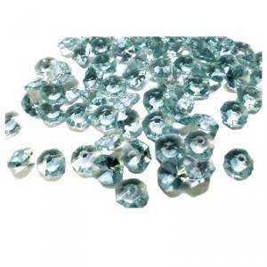 diamanti verde salvia 6 mm ( acrilico 20 gr - 300 pz ca.)