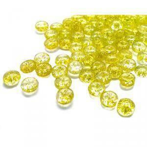 gocce di pioggia 6.8 mm - glitter oro 250 gr