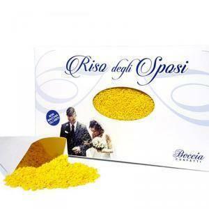 boccia riso sposi giallo 1 kg