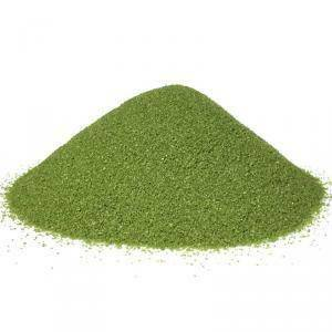sabbia 0,1-0,5 mm - verde oliva 1 kg
