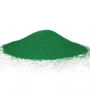 sabbia 0,1-0,5 mm - verde scuro 1 kg