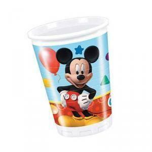 disney bicchiere plastica 200 ml mickey mouse - 8 pezzi