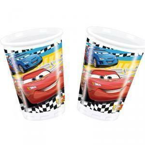 disney bicchiere in plastica 200 ml cars - 8 pezzi