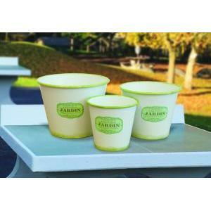 vaso latta rotondo jardin 3pz h.26 d,33 gree