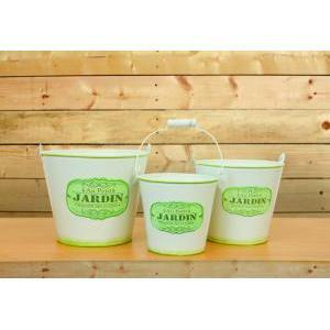 secchiello latta jardin set 3pz h.17 d.20 - green