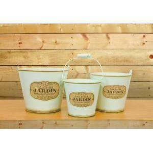 secchiello latta jardin set 3pz h.17 d.20 yellow