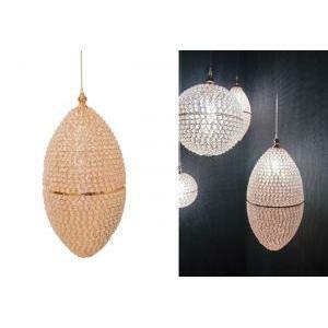 lampadario a goccia con cristalli d.32 x h66 cm - oro rosa