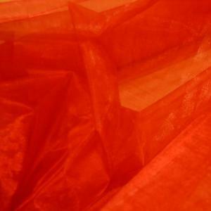 organza tessuto rosso - 150x300 cm