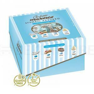 maxtris dolce arrivo sfumati azzurro - confetti  (vassoio 500gr)