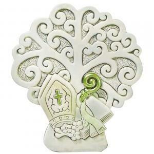 icona albero in resina per cresima 6,5 x 7 cm
