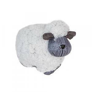 rgb pecorella in terracotta rivestita in lana - in piedi