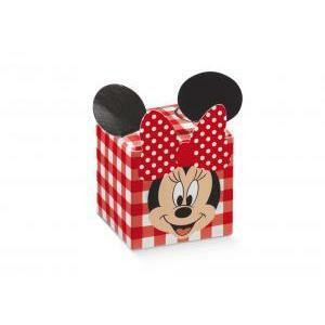 scotton spa cubo disney minnie's party rosso - 50x50x50 mm