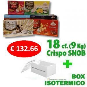 crispo kit risparmio 18 confezioni confetti crispo snob  500 gr. - 9 kg