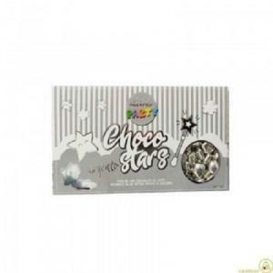 maxtris choco stars - stelline argento perlato - 500gr